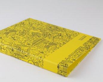 Yellow printed folder