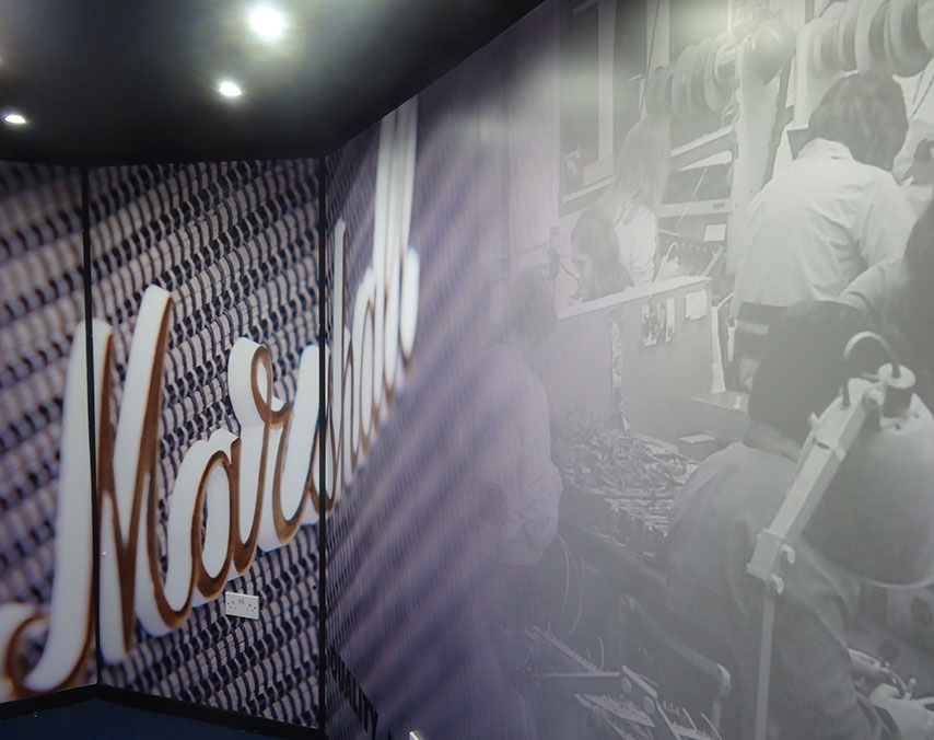 Marshall Amps Demo Room: Printed Vinyl