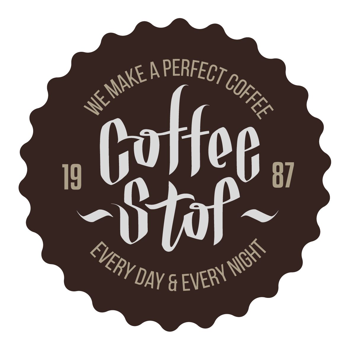 Order business printing online coffee stop logo